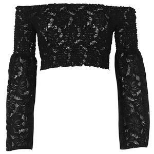 ASOS Tops - ➳ ASOS River Island Lace Long Sleeve Crop Top